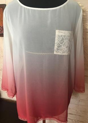 Шифоновая блузка с цветовым переходом