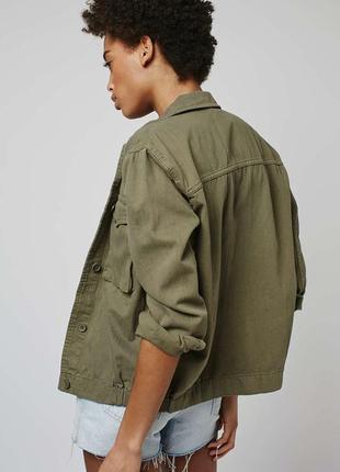 Актуальная куртка-рубашка, жакет в стиле гранж милитари topshop