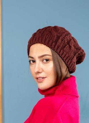 Стильная модная шапка берет манго шапка вязка модная mango мар...
