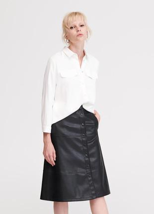 Актуальная юбка трапеция с карманами