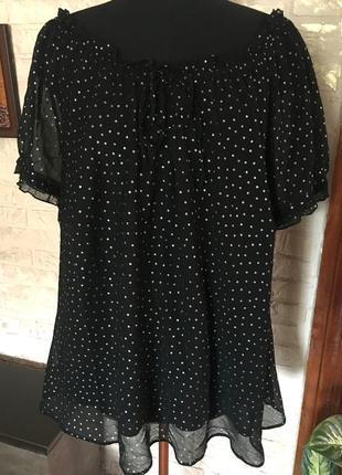 Двойная шифоновая блуза