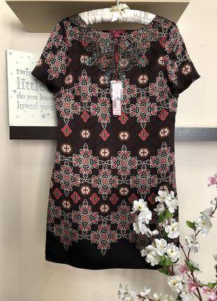 Шикарное короткое платье 100% шёлк, нарядное короткое платье, ...