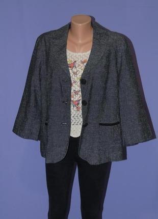 Стильный натуральный пиджак 20 размера/58% лен per una