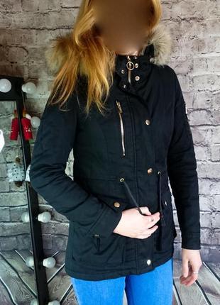 Куртка парка chicoree. оригинал. плотный коттон. утеплена.