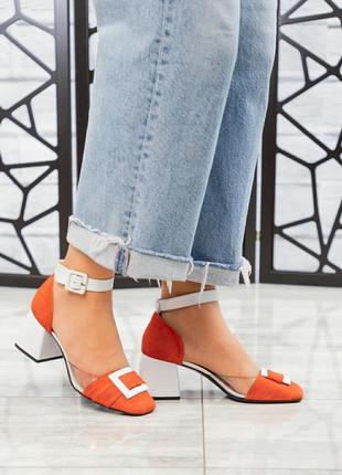 ❤ женские оранжевые замшевые туфли ❤