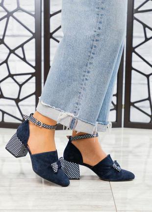 ❤ женские синие замшевые туфли ❤
