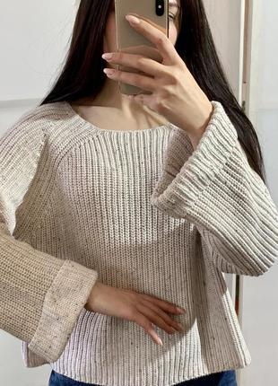 Хлопковый свитер h&m