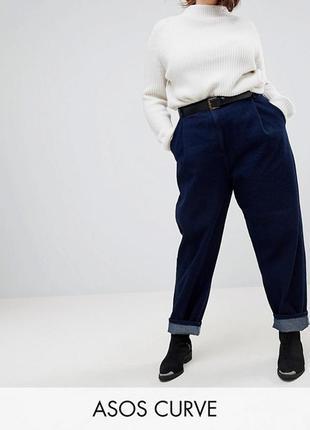 Плотные стрейчевые синие джинсы р.24