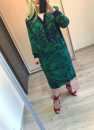 Шерстяное итальянское платье прямого кроя р.50/52