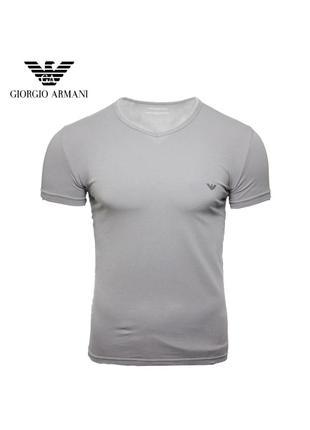 Мужская серая футболка emporio armani