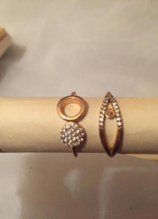 Кольца, новые колечки «под золото»