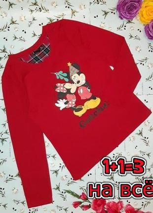 🎁1+1=3 стильный красный свитер лонгслив пижама disney с микки ...
