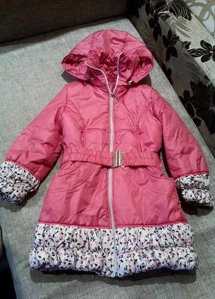 Курточка весна-осень. красивый розовый цвет. (5-7 лет.) рост 1...