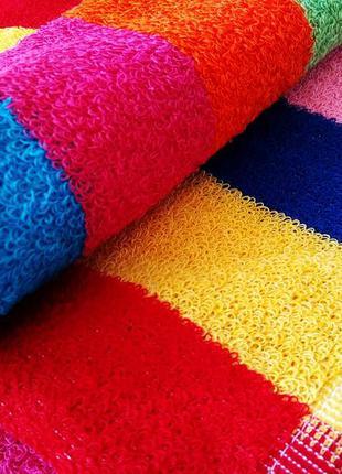Кухонное полотенце натуральный хлопок радужка