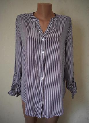 Натуральная блуза-рубашка в полоску primark