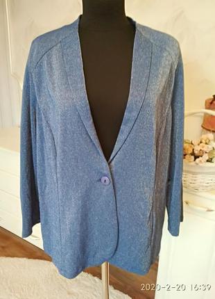 Нарядный пиджак с люрексом, размер 22/24 англ, наш 54-56.