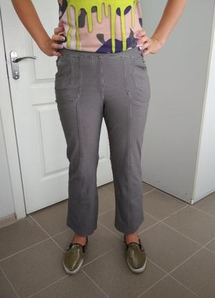 Стрейчевые брюки принт гусиная лапка undici nove