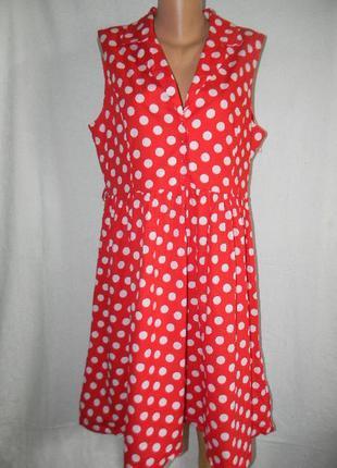 Натуральное платье в горошек lindy bop
