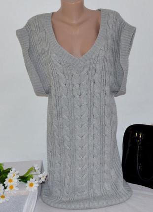 Брендовое тёплое миди платье sara kelly акрил