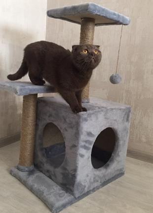 Когтеточка Домик для кота и кошки Лежанка Дряпка Производитель