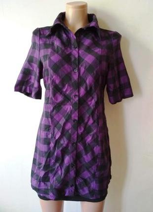 Платье-рубашка в клетку gemcocktail