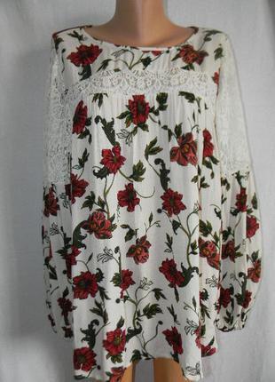 Красивая натуральная блуза  marks & spencer