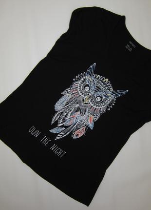 Очень красивая футболка с совой