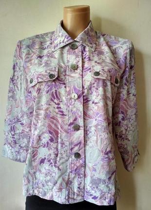 Летний пиджак в цветочный принт / рубашка party friend