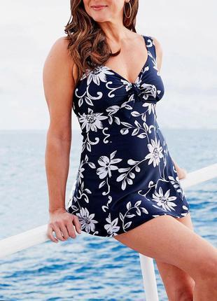 46-48р.(20) моделирующий купальник-платье bonmarche