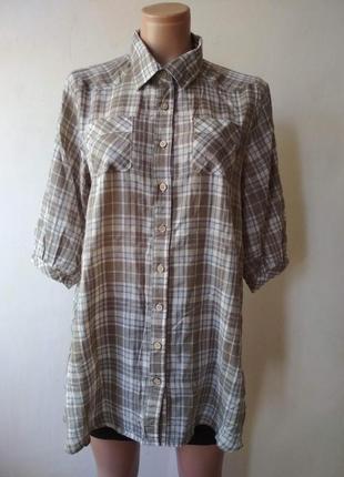 Длинная рубашка в клетку livrekina