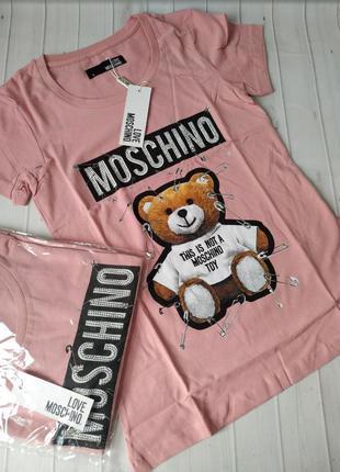 Sale🔥😻футболка брендовая в стиле moschino