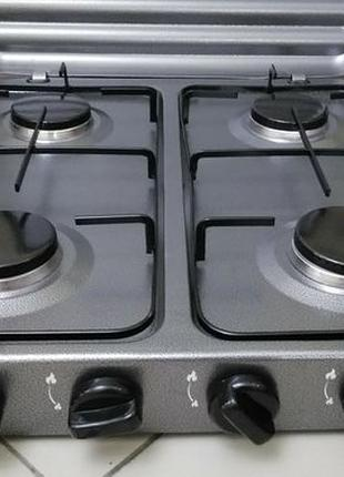 Настольная газовая плита,таганок на 4 конфорки с крышкой. MS 6604