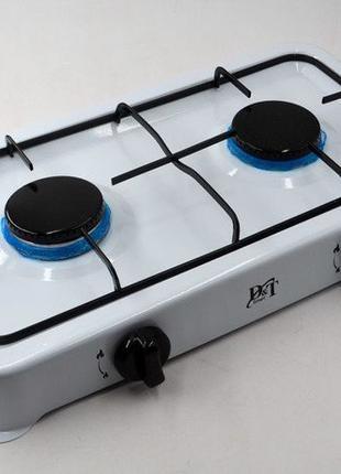 Настольная газовая плита,таганок Domotec на 2 конфорки.