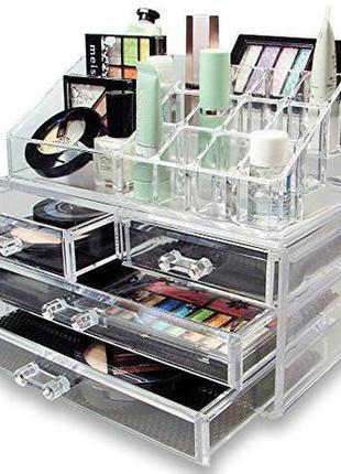 Настольный органайзер для косметики Cosmetic Organizer(Акриловый)
