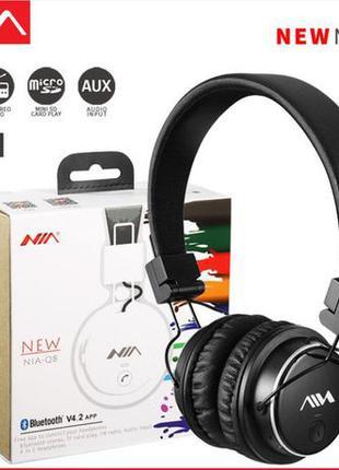 Наушники беспроводные Bluetooth NIA Q1 Q8 Bluetooth MP3 MICRO ...