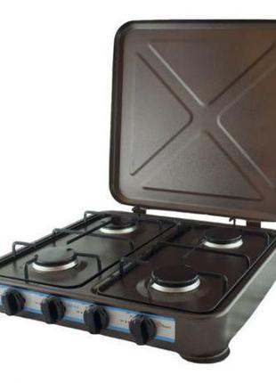 Настольная газовая плита,таганок на 4 конфорки с крышкой MS 6604