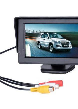 """Автомобильный монитор TFT LCD 4.3"""" TV для камер заднего вида"""