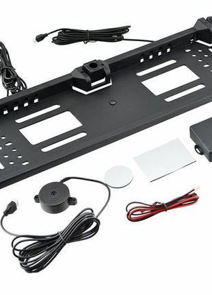 Камера с подсветкой номерной рамке+2 парктроника,рамка под номер