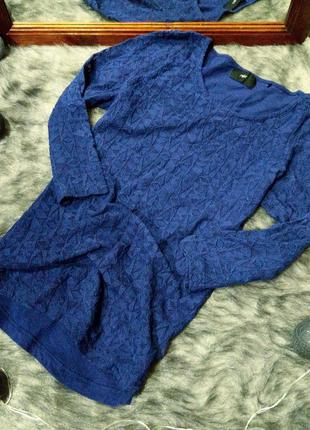 Лонгслив пуловер реглан с кружевной передней частью и рукавами...