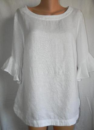 Белая блуза лен