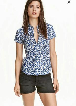 Хлопковая блузка - рубашка