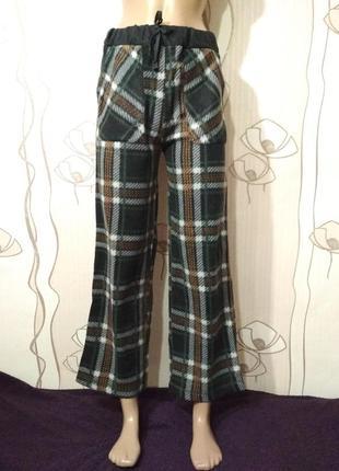 Флисовые пижамные штаны для дома для сна