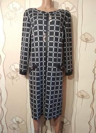 Трикотажное платье на новый год