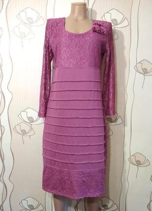 Нарядное платье цвета фуксия на новый год