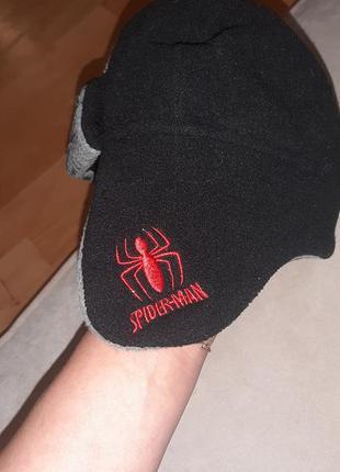 Spider-man шапка на мальчика демисезонная 50р