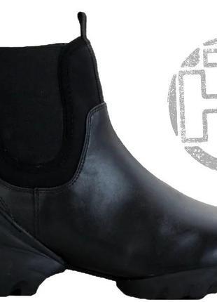 Женские ботинки dior boots total black 2020