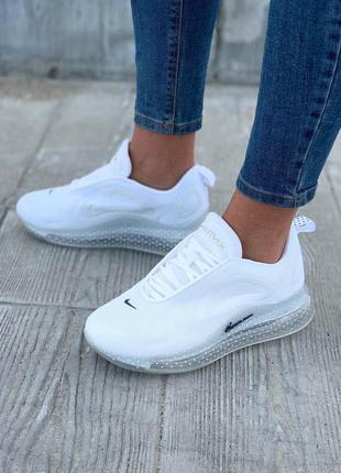 Стильные женские кроссовки nike 720 в белом цвете (весна-лето-...