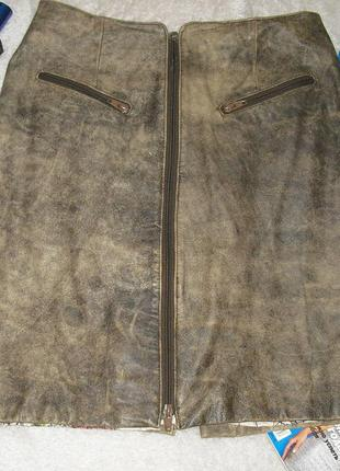 Кожаная юбка genuine leather