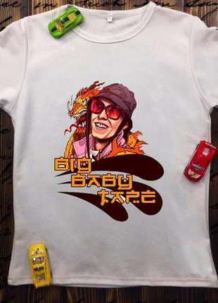 Мужская футболка с принтом - big baby tape