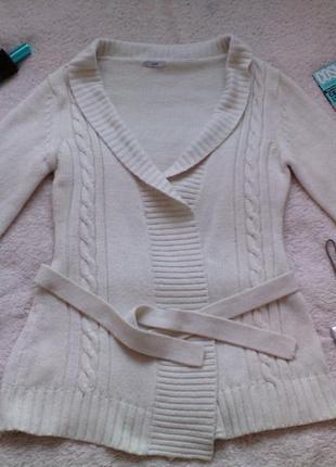 Вязанный кардиган / длинный свитер